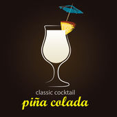 Pina Colada in authentic Poco Grande glass — Stockvektor