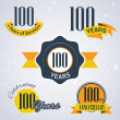 100 years of service, 100 years, Celebrating 100 years, 100 th Anniversary - Set of Retro vector Stamps and Seal for business — Stock Vector #51331857