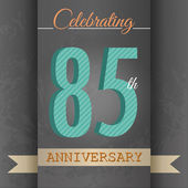 85th Anniversary poster , template design in retro style - Vector Background — Stock Vector