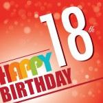 18th Birthday party invite,template design in bright and colourful retro style - Vector — Stock Vector #51527939