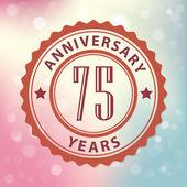 """""""75 aniversario"""" - sello de estilo retro, con coloridos bokeh fondo eps 10 vector — Vector de stock"""