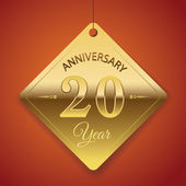 20 Years Anniversary poster , template, tag design Vector — Stock Vector