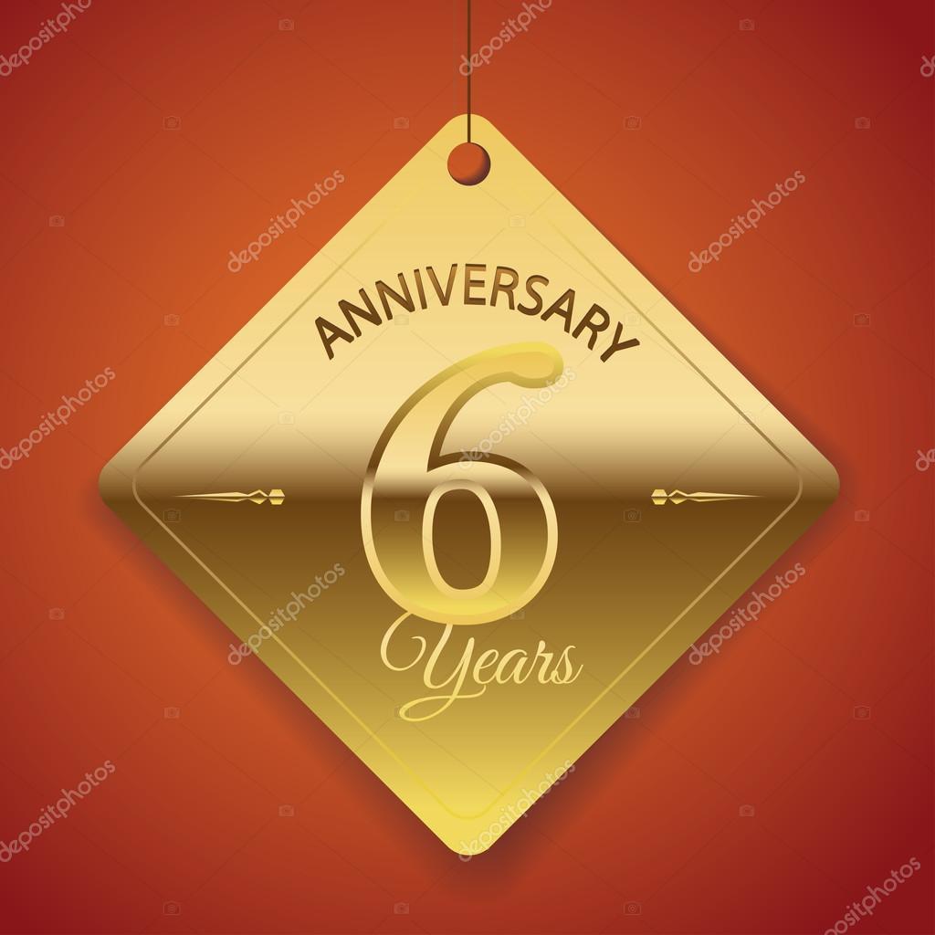 Sexto año del aniversario de boda