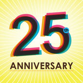25 Years Anniversary poster , template, tag design Vector — Stock Vector