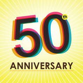 50 Years Anniversary poster , template, tag design Vector — Stock Vector