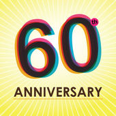60 Years Anniversary poster , template, tag design Vector — Stock Vector