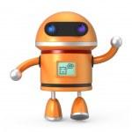 Cute robot say hello — Stock Photo #46341771