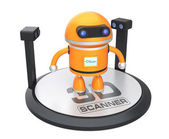 Stylish 3D scanner  original design with clipping path — Stock Photo