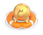 Zapisywanie koncepcja pieniądza — Zdjęcie stockowe