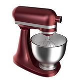 Wine red electric mixer isolated on white background — Stock Photo