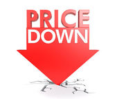 Price down concept — Stock Photo