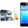 Smartphone with home automation app — Stock Photo #47257427