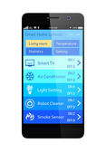 Home energy management app for smartphone — Stock Photo
