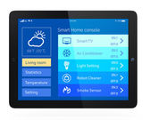 Home energy management app for tablet PC — Stock Photo