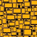 Responsive web design seamless pattern — Stock Vector