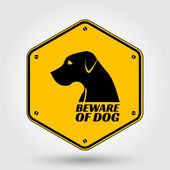 Beware of dog sign — Vector de stock