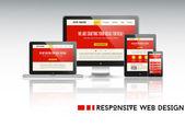 Responsive web design illustration — Stock Vector