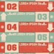 Modern numbered list template — Stock Vector #50343131