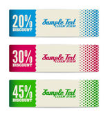 Set of discount banners — Stock Vector