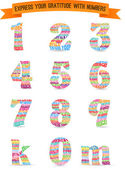 "Set of ""thank you"" numbers pattern — Stock Vector"