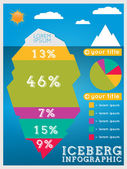 Iceberg infographic template — Vector de stock
