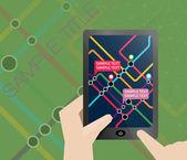 Subway map presentation slide — Stock Vector