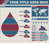 Raindrop infographic — Stock Vector