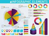 Elementi colorati infografica — Vettoriale Stock