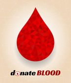 Donate blood poster — Stock Vector