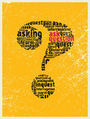 Ask the question mark — Stock Vector