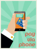 Mobile payment — Stock Vector