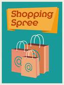 Shopping spree bags — Stock Vector