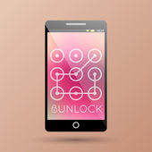 Unlock your phone — Cтоковый вектор