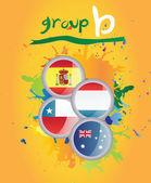 World cup group b vector — Vector de stock