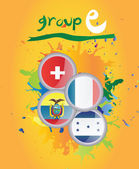Světový pohár skupina e vektor — Stock vektor