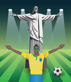 Fifa world cup fan — Stock Vector