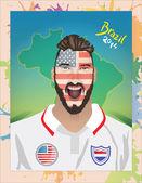USA football fan — Stock Vector