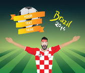 Croatia football fan — Stock Vector