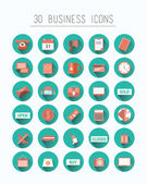 Thirty business icons — Stock Vector