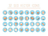 Seo and business icons — Stock Vector