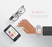 Wearable technology vector — Stock Vector