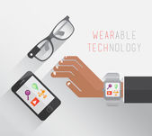 Wearable technology vector — Stock Vector