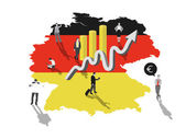 Business people on germany — Stock Vector
