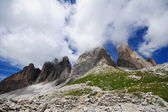Dolomites and clouds — Stock Photo