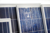 Broken photovoltaic modules  — Stock Photo