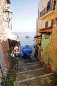 Alley in fishing village — Stock Photo