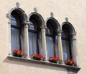 Flowered balcony — Stock Photo