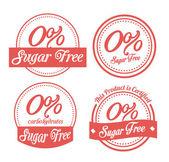 Sugar free design — Stock Vector