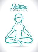 Meditation design  — Vector de stock