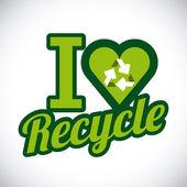 Diseño de reciclaje — Vector de stock